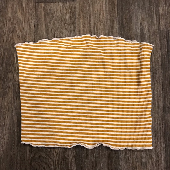 Urban Outfitters Tops - Yellow stripe strapless tube top boutique